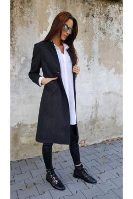 kabát fazóna šedý 40