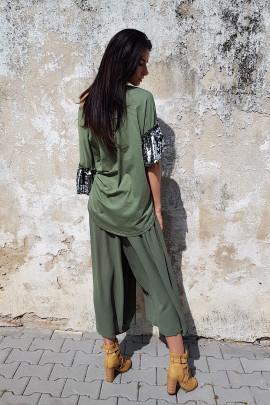 Nohavicová sukňa Valery zelená