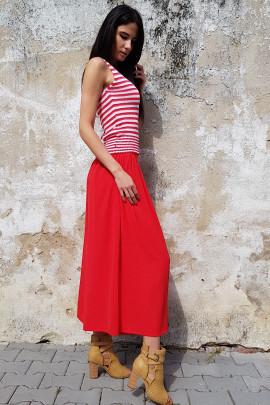 Nohavicová sukňa Valery červená
