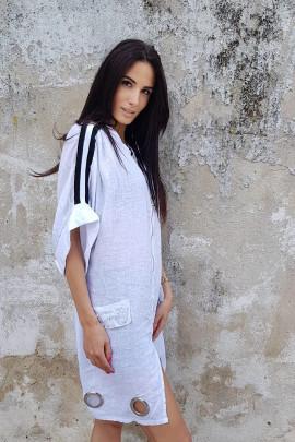 Plášť Sabina biely