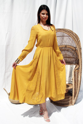 Šaty Elizabet žlté