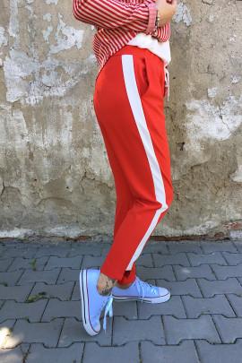 Nohavice Hugo červené