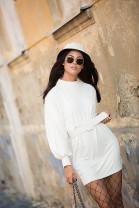 Šaty LEILA bielo-smotanové