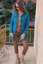 Kabát Filipa tyrkysový