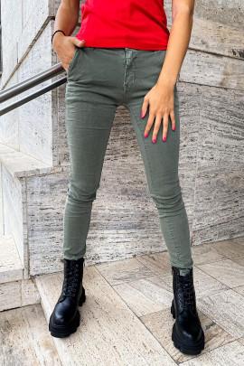 Nohavice Anselmo zelené