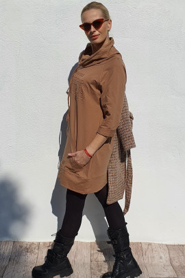 Šaty Vouge kamel