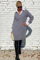 Šaty Abbondio sivé