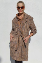 Kabát Agnese hnedobiely