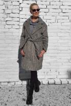 Kabát Agnese sivočierny
