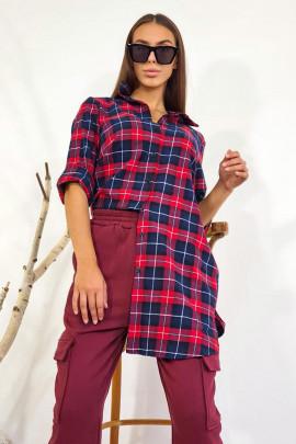 Šaty Kora modro-červené