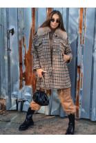 Kabát London hnedý