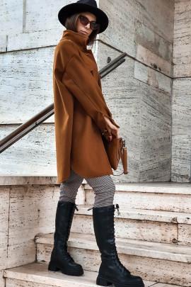 Kabát Battisa hnedý