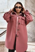 Kabát Battisa ružový