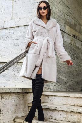 Kabát Cleto biely