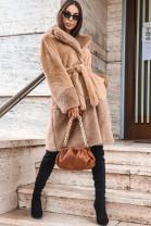 Kabát Cleto hnedý