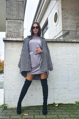 Šaty LEILA sivé