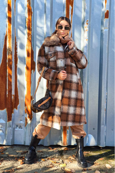 Kabát Ernesto hnedý