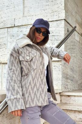 Kabát Carlito sivý