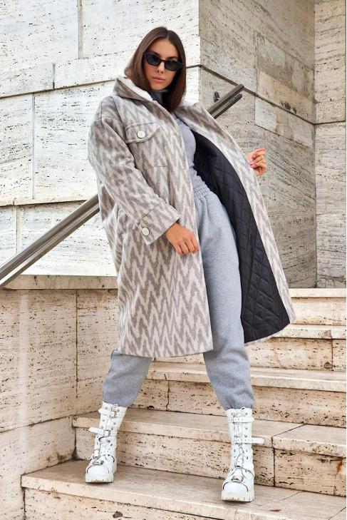 Kabát Carlo sivý