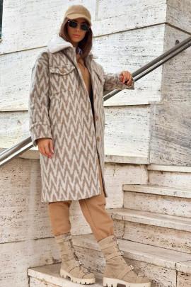 Kabát Carlo béžový