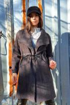 kabát šnúrka šedý 36