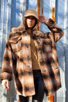 Kabát London škoricový