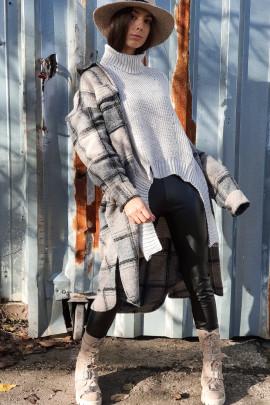 Kabáto-košeľa Linda sivá