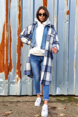 Kabáto-košeľa Linda modrá