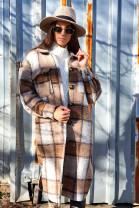 Kabáto-košeľa Linda hnedá