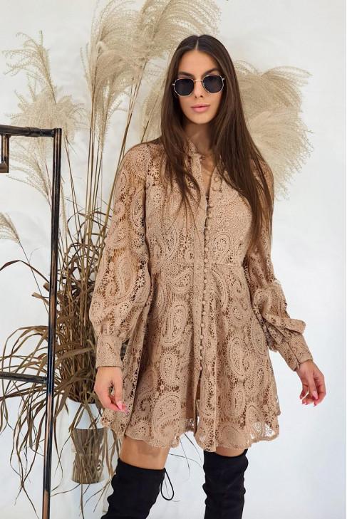 Šaty Flora béžové