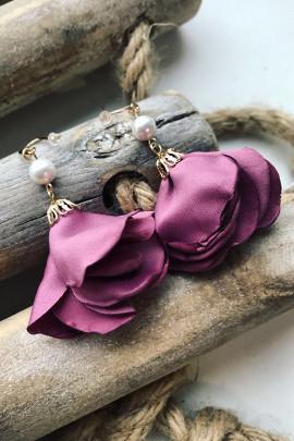 Náušnice ROSE fialové