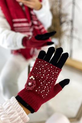 rukavice červené