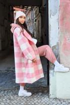 Kabát Adela ružový