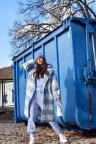 Kabát Adela modrý