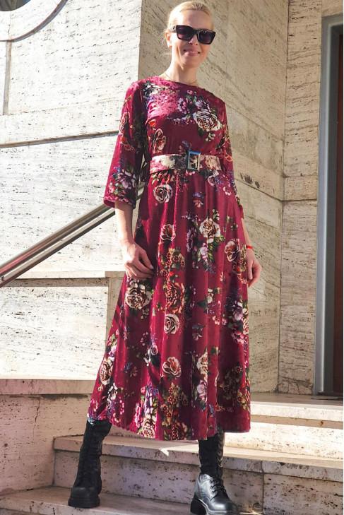 šaty bordó (lodič.)