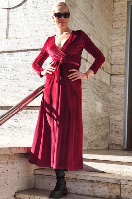 šaty (bordó)