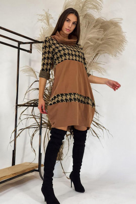 Šaty Duccio hnedé