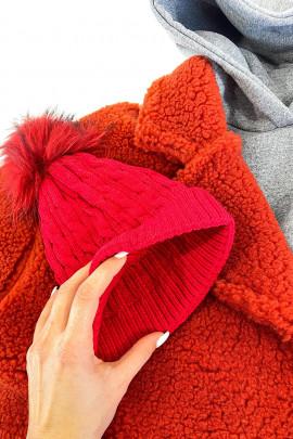 Čiapka Bimba červená