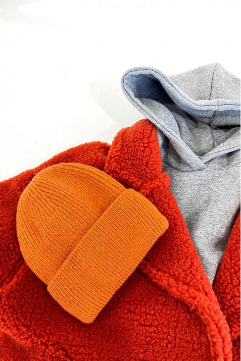 Čiapka zateplená oranžová
