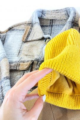 Dámska čiapka Ika žltá