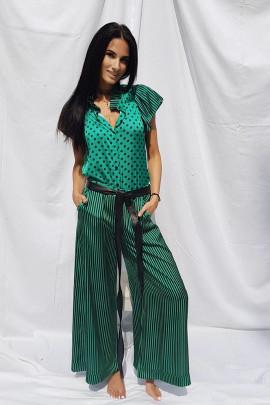 Nohavice Ester zelené