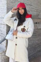 Kabát Linda biely