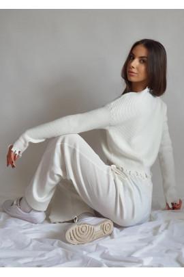 Pulover Macario biely