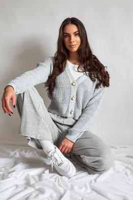 Nohavice Fazio sivé