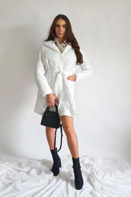 Kabát Tatiana biely