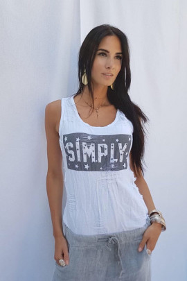 Top Simply biely