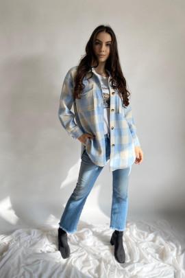 Košeľa Noira KÁRO modrá