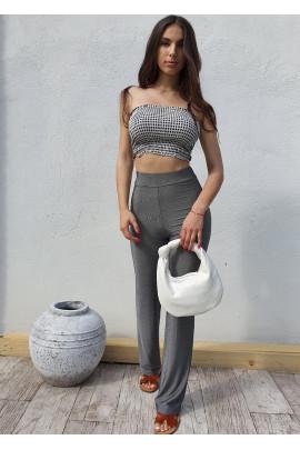 Nohavice MONA sivé