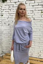 Šaty Magnolie sivé