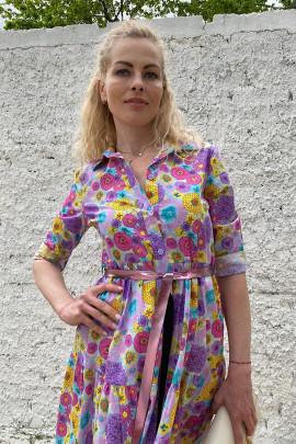 Šaty Flora fialové